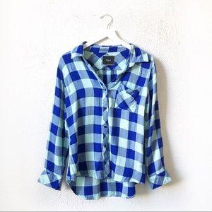 Rails | Blue Plaid Button Up Flannel Shirt Small